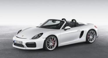 Porsche: al New York Internazional Auto Show 2015 l'anteprima mondiale della nuova Boxster Spyder