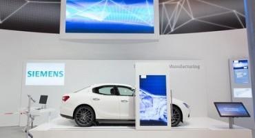 Maserati Ghibli protagonista, con Siemens, dell'Hannover Messe 2015