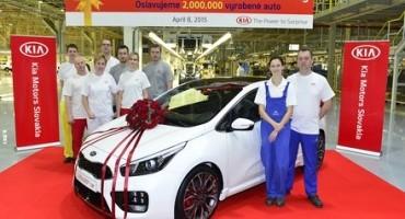 Kia Motors Europe, dal 2006 prodotte in Europa 2 milioni di vetture