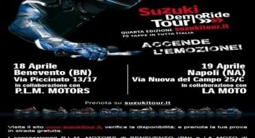 Suzuki Demoride tour: il prossimo week end nuova tappa nelle provincie di Benevento, Bologna, Napoli e Pesaro/Urbino