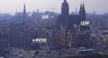 Nissan protagonista ad Amsterdam con i Taxi elettrici (Leaf ed e-NV200)