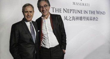 """Maserati a Shangai celebra con un evento la scultura di Oliviero Rainaldi """"Neptune in the Wind"""""""
