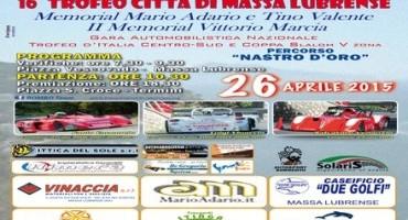 """Domenica 26 Aprile, grande attesa per il """"16° Trofeo Città di Massa Lubrense"""". Fortissima la rivalità tra i piloti Vinaccia, Venanzio ed Emanuele"""