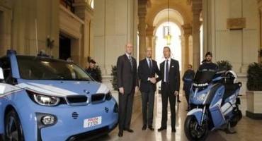 BMW Italia consegna quattro BMW i3 e sei scooter BMW C evolution alla Polizia di Stato, per EXPO 2015