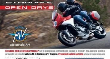 Napoli, Open Days MV Agusta, il prossimo 16 e 17 Maggio demo ride della Stradale 800 e Turismo Veloce