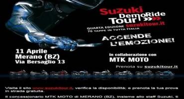 Suzuki DemoRide Tour: si parte l'11 e 12 aprile in Calabria, Veneto e Alto Adige per provare le novità della Casa