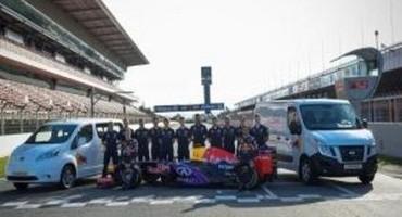 Nissan: con i veicoli commerciali leggeri, supporterà il team Infiniti Red Bull Racing in occasione dei Gran Premi europei