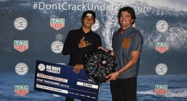 TAG Heuer collabora con la World Surf League e diventa Cronometrista Ufficiale del Big Wave Tour