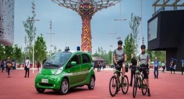 Expo 2015, il Corpo Forestale dello Stato con la vettura a trazione elettrica Mitsubishi i-MiEV