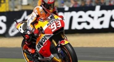 MotoGP: a Le Mans terza pole stagionale per Marquez, in prima fila anche Dovizioso e Lorenzo
