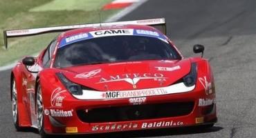 ACI Sport, Italiano GT, classe GT3, in Gara 2 vittoria di Casè-Gattuso (Ferrari 458 Italia-Scuderia Baldini 27)