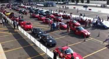 """Autodromo Nazionale di Monza, sono state più di 550 le auto che hanno preso parte alla """"Mille Miglia 2015"""""""