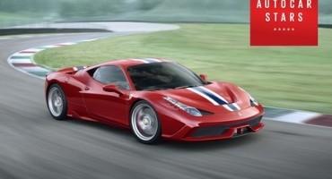 """Ferrari 458 Speciale: """"la vettura probabilmente più eccitante al mondo"""", da Autocar Magazine un altro premio per le rosse"""