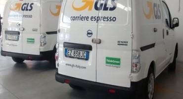 """Nissan e GLS Italia: """"le consegne ad impatto zero"""", fornite al corriere espresso 10 unità del veicolo commerciale elettrico e-NV200"""