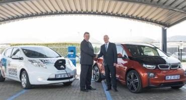 Nissan e BMW, protocollo d'intesa per l'ampliamento delle infrastrutture di ricarica dei veicoli elettrici in Sudafrica