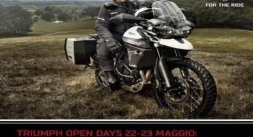 Triumph Open Days: il 22 e 23 maggio si potrà provare tutta la nuova gamma Tiger 800