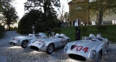 """Stirling Moss e Hans Herrmann tornano sulle strade della Corsa più bella del mondo, la """"Mille Miglia"""""""