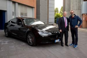 Maserati_Massimo Bottura-Chef 3 stelle Michlin-e Harald Wester-CEO Maserati_
