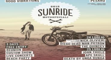 """SunRide 2015, motociclette, musica rock e """"good vibrations"""", sulla costa adriatica (24, 25 e 26 luglio, Porto di Pesaro)"""