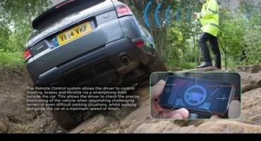 Avete mai guidato una Range Rover Sport tramite uno smartphone?