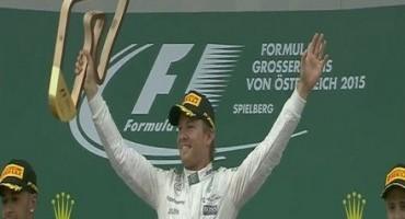 Formula 1 GP Austria, vince Nico Rosberg, Hamilton è secondo, quarta la ferrari di Vettel