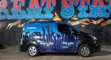 Nissan e-NV200 100% elettrico diventa PART e-VAN ed è come avere una discoteca mobile