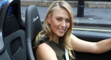 Tennis superstar Maria Sharapova drops in at Porsche Centre Mayfair to sample new Boxster Spyder