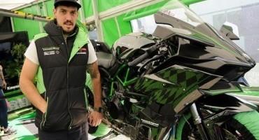 James Hillier al TT con la Ninja H2R