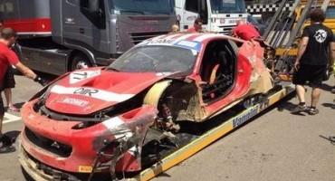 ACI Sport, Italiano Gran Turismo, Mugello, brutto incidente senza conseguenze per Luigi Lucchini (MS-Scuderia Italia)