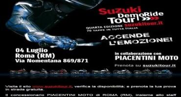 Suzuki DemoRide Tour: il 4 e 5 luglio a Roma e Pavia per provare le novità della Casa