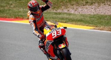 MotoGP 2015, in Germania, al Sachsenring Marquez domina e vince davanti a Pedrosa e Rossi