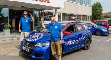 Honda conquista il nuovo GUINNESS WORLD RECORDS™ per i consumi di carburante