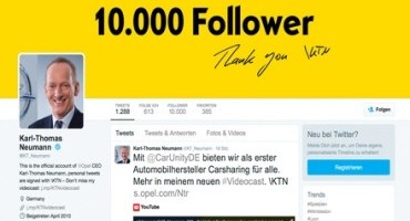 Grande successo su Twitter: Karl-Thomas Neumann, CEO Opel, ha già 10.000 follower
