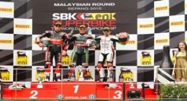 WSBK, Sepang, Gara 1, Jonathan Rea conquista la dodicesima vittoria stagionale, terzo gradino per Max Biaggi