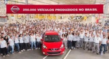 Nissan festeggia il traguardo dei 250.000 veicoli prodotti negli stabilimenti brasiliani di Resende e São José dos Pinhais