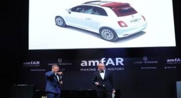 La Nuova Fiat 500C battuta all'asta da Lapo Elkann al gala dell'amfAR