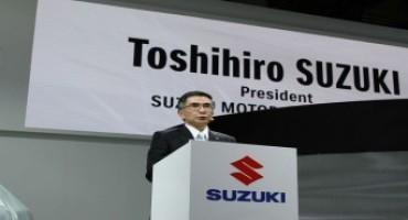 Suzuki Motor Corporation, al Salone di Francoforte 2015 l'esordio del neo Presidente Mr. Toshihiro Suzuki