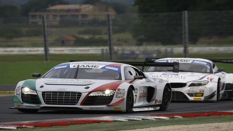 Campionato Italiano Gran Turismo, Vallelunga: nella seconda sessione di libere miglior crono di Mapelli-Amici (Audi R8 LMS)