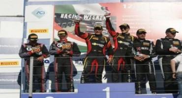 Campionato Italiano Gran Turismo, Vallelunga, Gara1: Mirko Zanardini e David Perel (Bonaldi Motorsport) conquistano la terza vittoria nella GT Cup
