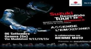 Suzuki DemoRide Tour, ripartono da Varese e Genova il 5 e 6 settembre