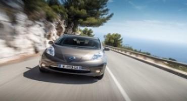 Nissan Leaf, incrementa l'autonomia del 26%, adesso percorre fino a 250 km*