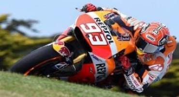 MotoGP 2015, a Phillip Island, in Australia, ottava pole stagionale per Marquez, solo 7° Rossi
