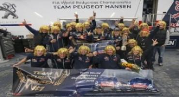Il Team Peugeot Hansen è Campione del Mondo Rallycross