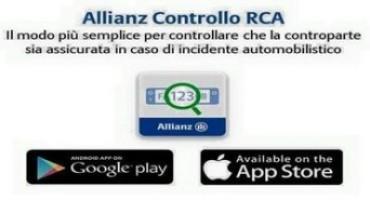 """Allianz Italia lancia la nuova App """"Controllo RCA"""" per sapere in pochi secondi se un veicolo è assicurato"""