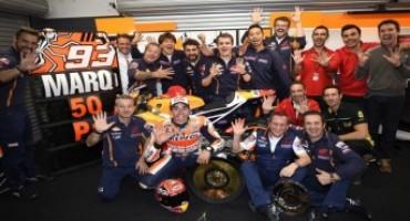 MotoGP 2015, Marquez celebrates 50th career win with sensational final lap, Pedrosa 5th