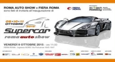 Supercar Roma Auto Show, iniziato il countdown