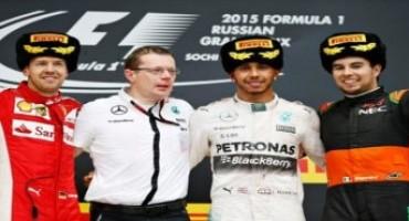 Formula 1 – GP Russia: Hamilton continua a volare, Rosberg si ritira, Vettel è 2°