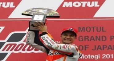 MotoGP 2015, GP Giappone: la pioggia favorisce Dani Pedrosa che vince la sua prima gara della stagione