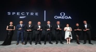 Omega e Daniel Craig celebrano l'uscita del film Spectre in Cina