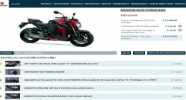 Suzuki.it, è online il nuovo configuratore moto, scooter, accessori e servizi